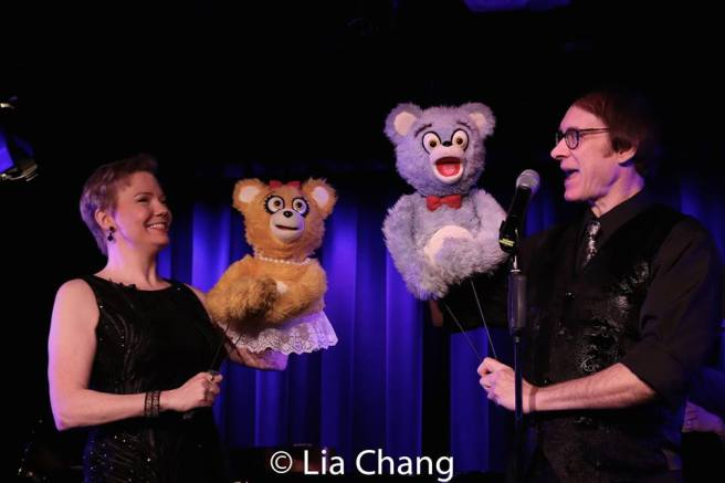 Jennifer Barnhart, the Bad Idea Bears and Rick Lyon. Photo by Lia Chang