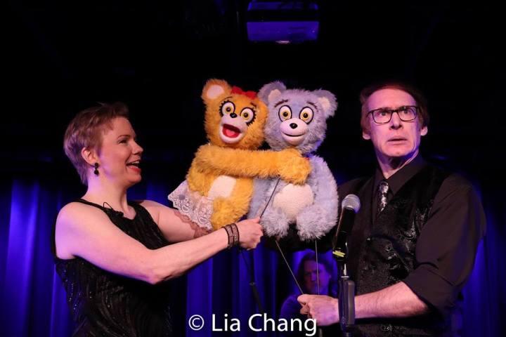 Jennifer Barnhart, the Bad Idea Bears and Rick Lyon. Photo by Lia Chang