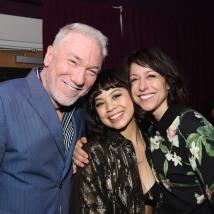 Patrick Page, Eva Noblezada and Paige Davis. Photo by Lia Chang