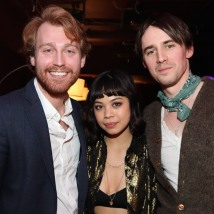Daniel Dunlow, Eva Noblezada and Reeve Carney. Photo by Lia Chang