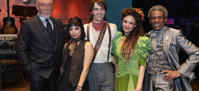 Aaron Tveit Backstage Pass With Lia Chang
