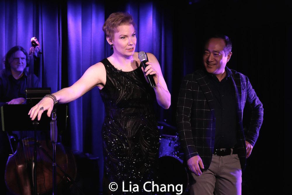 Jim Donica, Jennifer Barnhart and director Alan Muraoka. Photo by Lia chang