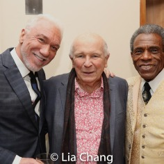 Patrick Page, Terrence McNally, André De Shields. Photo by Lia Chang
