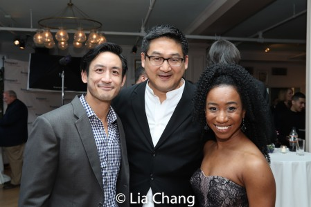 Hansel Tan, Timothy Huang and Destinee Rea. Photo by Lia Chang