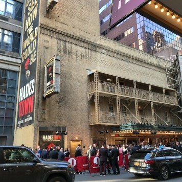 The Walter Kerr Theatre in New York on opening night of HADESTOWN, April 17, 2019. Photo by Lia Chang