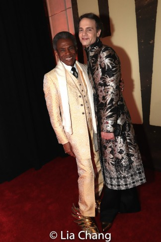 André De Shields and Jordan Roth. Photo by Lia Chang