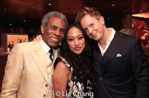André De Shields, Racquel Racadio and Dustin Strong. Photo by Lia Chang
