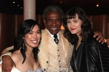 Cynthia Meng, André De Shields and Rose LaBarre. Photo by Lia Chang