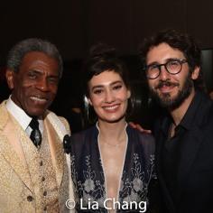 André De Shields, Schuyler Helford and Josh Grobin. Photo by Lia Chang