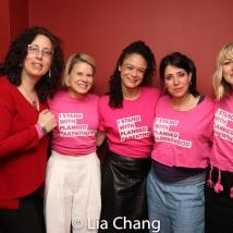 Mara Isaacs, Celia Keenan-Bolger, Amber Gray, Rachel Chavkin and Anaïs Mitchell. Photo by Lia Chang