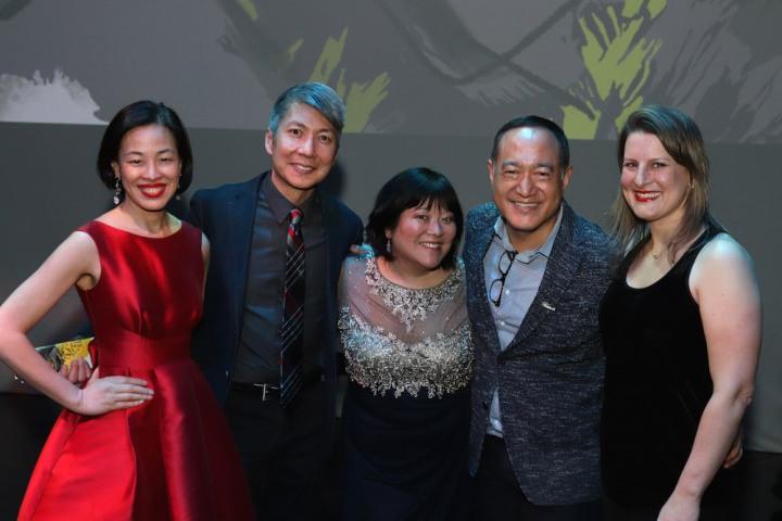 Lia Chang, Jason Ma, Ann Harada, Alan Muraoka and Kristen Rosenfeld after the opening night performance on May 8, 2019.