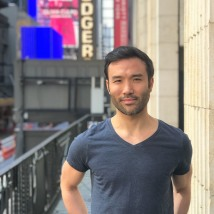 Marc delaCruz at the Richard Rodgers Theatre in New York. Photo by Lia Chang