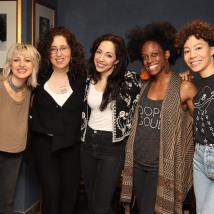Anais Mitchell, Mara Isaacs, Yvette Gonzalez-Nacer, Kimberly Marable and Afra Hines. Photo by Lia Chang