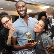 Yvette Gonzalez-Nacer, 2019 ACCA Award winner Malcolm Armwood and Kay Trinidad. Photo by Lia Chang