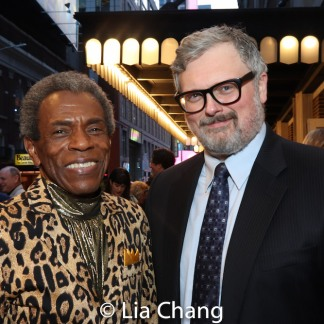 Drama Desk winner André De Shields and John Ellison Conlee. The two appeared in THE FULL MONTY together. Photo by Lia Chang