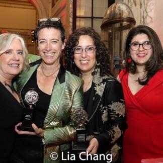 Lisa Peterson, 2019 Tony Awards winner Rachel Hauck and Mara Isaacs, Danielle Mellman. Photo by Lia Chang