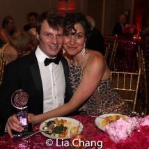 2019 Tony Award winner Todd Sickafoose and Ilana Umansky. Photo by Lia Chang