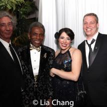 2019 Tony nominee Michael Strauss, 2019 Tony Award winners André De Shields and Rachel Chavkin, Jake Heinrichs. Photo by Lia Chang