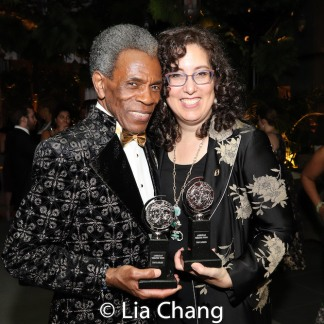 2019 Tony Award winners André De Shields and Mara Isaacs. Photo by Lia Chang