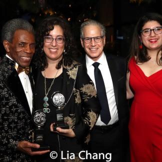 2019 Tony Award winners André De Shields and Mara Isaacs, Seth Mellman and Danielle Mellmann Photo by Lia Chang