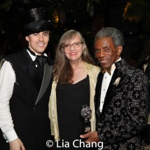Reeve Carney with his mother, Marti Heil and 2019 Tony Award winner André De Shields. Photo by Lia Chang