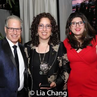 Seth Mellman, 2019 Tony Award winner Mara Isaacs and Danielle Mellman. Photo by Lia Chang