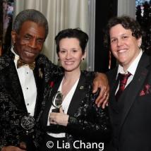 2019 Tony Award winners André De Shields and Jessica Paz, Corrine Livingston. Photo by Lia Chang