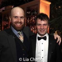 Liam Robinson and 2019 Tony Award winner Todd Sickafoose. Photo by Lia Chang