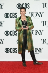 """Rachel Hauck, winner of the award for Best Scenic Design of a Musical for """"Hadestown,"""" poses in the press room for the 73rd Annual Tony Awards at 3 West Club on June 9, 2019 in New York City. (Photo by Mike Coppola/Getty Images for Tony Awards Productions)"""