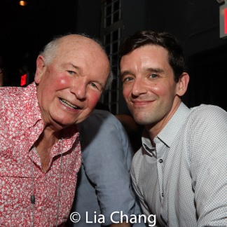 Terrence McNally and Michael Urie. Photo by Lia Chang
