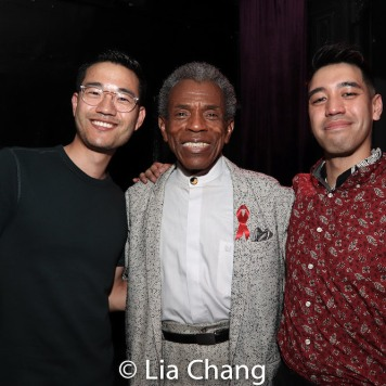 Daniel K. Isaac, André De Shields and Alton Alburo. Photo by Lia Chang