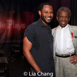 Larry Powell and André De Shields. Photo by Lia Chang