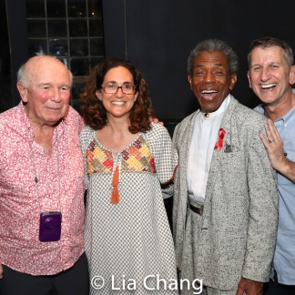 Terrence McNally, Daniella Topol, André De Shields and Tom Kirdahy. Photo by Lia Chang