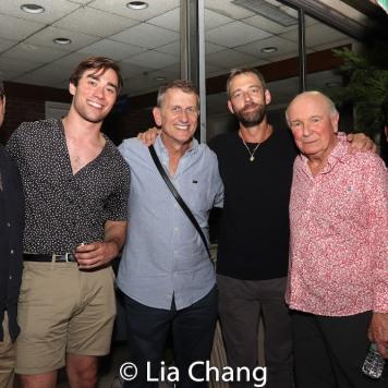 Jonathan Tolins, a guest, Tom Kirdahy, Ken Barnett, Terrence McNally and Michael Shayan. Photo by Lia Chang