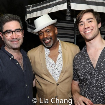 Jonathan Tolins, Lance Roberts and a guest. Photo by Lia Chang