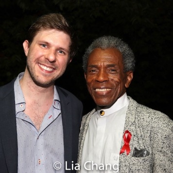 Logan Reed and André De Shields. Photo by Lia Chang