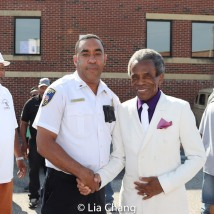 Lieutenant Nicolas and Grand Marshal André De Shields. Photo by Lia Chang