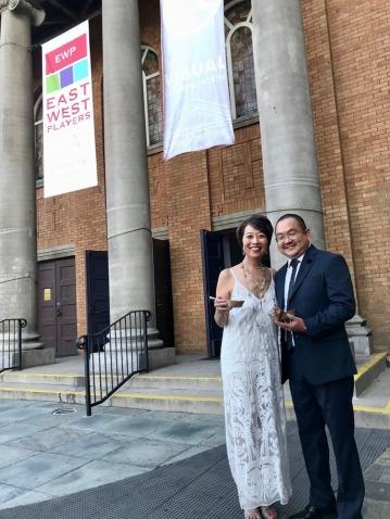 Honorees Jeanne Sakata and Aaron Takahashi. Photo by Kurt Kanazawa