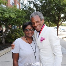 Wanda Best and Grand Marshal André De Shields. Photo by Lia Chang