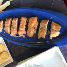 Salmon at Kevin Brown's Nancy by SNAC. Photo by Lia Chang