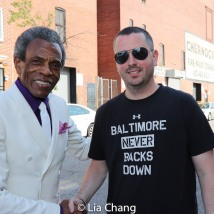 Grand Marshal André De Shields and Councilman Eric Costello. Photo by Lia Chang