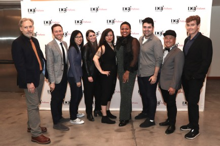 Michael Korie, Benjamin Velez, Melissa Li, Aryanna Garber, Jay Adana, Zeniba Now, Zack Zadek, Kit Yan and Laurence O'Keefe. Photo by Lia Chang