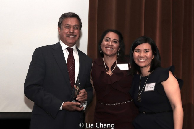 Dr. Ram Raju MD, MBA, FACHE, Anita Gundanna and Vanessa Leung. Photo by Lia Chang
