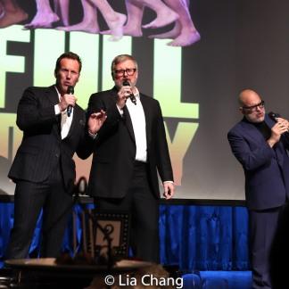 Patrick Wilson, John Ellison Conlee and David Yazbek. Photo by Lia Chang
