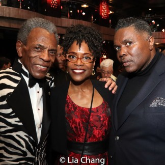 André De Shields, Charlayne Woodard and a guest. Photo by Lia Chang