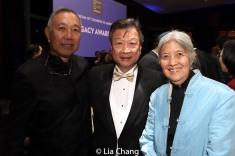 Rocky Chin, Tzi Ma and May Chen. Photo by Lia Chang