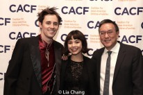 Reeve Carney, Eva Noblezada and Alexander Tsui, DMD. Photo by Lia Chang