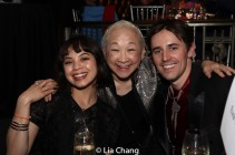 Eva Noblezada, Lori Tan Chinn and Reeve Carney. Photo by Lia Chang
