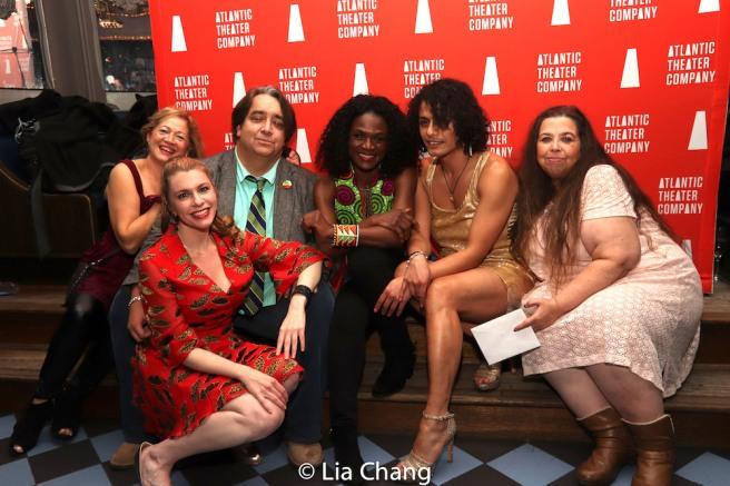 Wilemina Olivia-Garcia, Andrea Syglowski, Stephen Adly Guirgis, Patrice Johnson Chevannes, Esteban Andres Cruz, Kristina Poe. Photo by Lia Chang