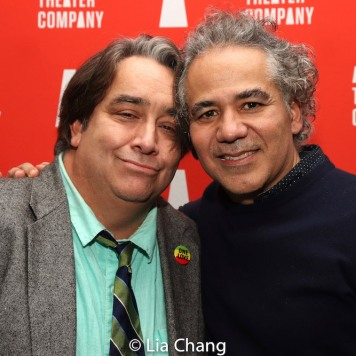 Stephen Adly Guirgis and John Ortiz. Photo by Lia Chang